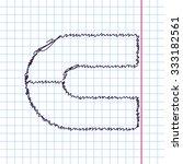 vector hand drawn sketch magnet ... | Shutterstock .eps vector #333182561
