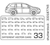 car icons thin line set | Shutterstock .eps vector #333187745