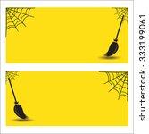 halloween banner background  | Shutterstock .eps vector #333199061