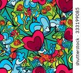 60s hippie psychedelic art... | Shutterstock .eps vector #333199085