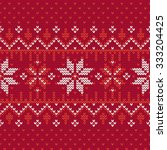 christmas knitting seamless... | Shutterstock .eps vector #333204425