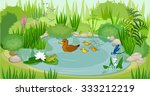 at the pond | Shutterstock . vector #333212219
