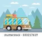 vector illustration of a retro... | Shutterstock .eps vector #333217619