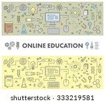 line design concept web banner... | Shutterstock .eps vector #333219581