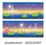loy krathong  thai full moon... | Shutterstock .eps vector #333222407