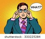 what surprised businessman pop... | Shutterstock .eps vector #333225284