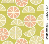 seamless    pattern  of citrus... | Shutterstock .eps vector #333227114