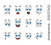 funny smiles with blue eyes | Shutterstock .eps vector #333227621