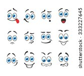 different funny emotions with... | Shutterstock .eps vector #333227645