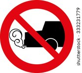 stop the engine icon.... | Shutterstock .eps vector #333231779