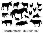 various farm domestic animals... | Shutterstock .eps vector #333234707