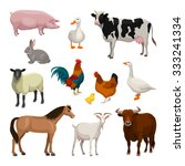 farm animals set | Shutterstock .eps vector #333241334