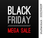 black friday sale poster design ... | Shutterstock . vector #333254039