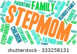 stepmom word cloud on a white... | Shutterstock .eps vector #333258131
