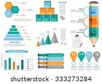 collection of infographic set... | Shutterstock .eps vector #333273284