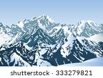 snowy mountains in the morning. ...   Shutterstock .eps vector #333279821