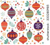 christmas background with balls ... | Shutterstock .eps vector #333280985