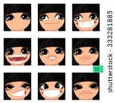vector set avatars icons smiley ... | Shutterstock .eps vector #333281885