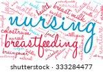 nursing word cloud on a white...   Shutterstock . vector #333284477