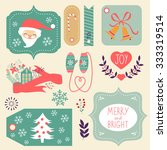 gift tags and christmas graphic ... | Shutterstock .eps vector #333319514