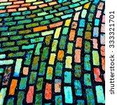 coloured cobblestones | Shutterstock . vector #333321701