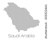 a map of the country of saudi... | Shutterstock .eps vector #333322661