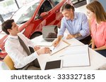 customers signing some... | Shutterstock . vector #333327185