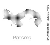 a map of the country of panama   Shutterstock .eps vector #333327491