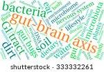 gut brain axis word cloud on a... | Shutterstock .eps vector #333332261