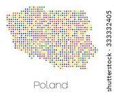 a map of the country of poland   Shutterstock .eps vector #333332405