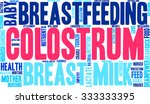 colostrum word cloud on a white ... | Shutterstock .eps vector #333333395