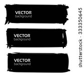 big banners for text from black ... | Shutterstock .eps vector #333350645
