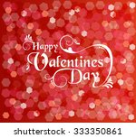happy valentines day card with... | Shutterstock . vector #333350861