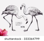 flamingo vector illustration.... | Shutterstock .eps vector #333364799