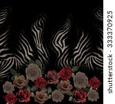 Flower Mix Zebra Skin  Pattern...