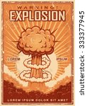 vintage explosion poster on a...   Shutterstock .eps vector #333377945