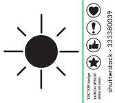 vector sun icon | Shutterstock .eps vector #333380039