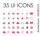 web ui vector icons