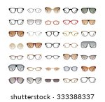 vector collection of eyeglasses ... | Shutterstock .eps vector #333388337