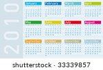 calendar for year 2010  in... | Shutterstock .eps vector #33339857