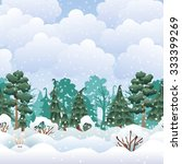 vector flat winter daily... | Shutterstock .eps vector #333399269