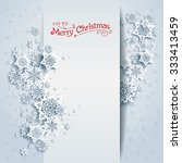 snowy winter card. holiday... | Shutterstock .eps vector #333413459