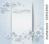 snowy winter holiday card.... | Shutterstock .eps vector #333413465