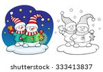 coloring book or page ...   Shutterstock .eps vector #333413837