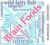 brain food word cloud on a... | Shutterstock .eps vector #333415601