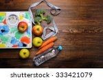 scales  apples  water on the... | Shutterstock . vector #333421079