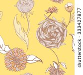 seamless floral pattern   Shutterstock .eps vector #333427877