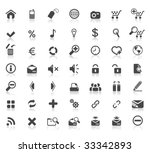 49 high quality web icons | Shutterstock .eps vector #33342893