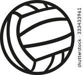 water polo ball | Shutterstock .eps vector #333433961