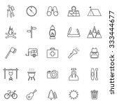 trekking line icons on white... | Shutterstock .eps vector #333444677